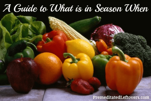a guide to what is in season and when