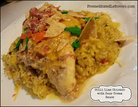 chili lime chicken with sour cream sauce recipe