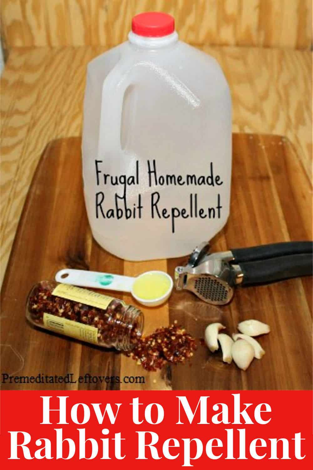 how to make organic rabbit repellent at home
