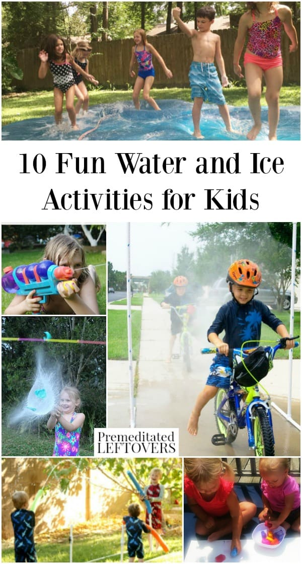 Water and ice activities for kids