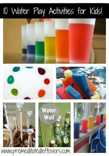 10 Water Play Activities for Kids - Fun and educational water-based activities for kids - Choose a few from our list and let them explore their creativity!