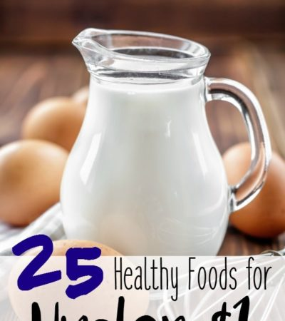 25 Healthy Foods for Under a Dollar-On a budget? Feed your family from this list of healthy foods that are under a dollar each serving!
