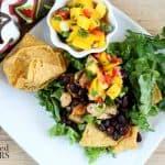 Caribbean Taco Salad with Mango Salsa