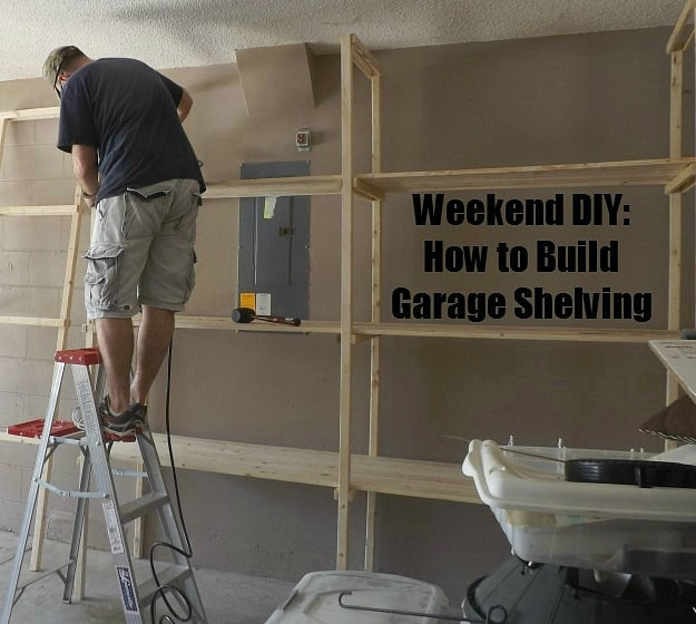 diy how to build garage shelving. Black Bedroom Furniture Sets. Home Design Ideas