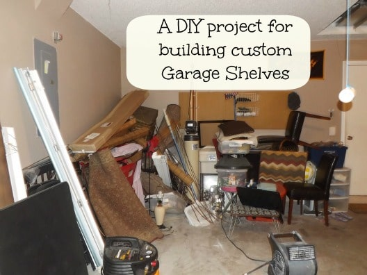 DIY Project Build 8 By Garage Shelves