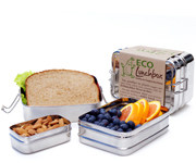 ECOlunchbox 3in1 stainless steel lunch box