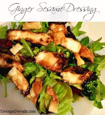 Grilled Chicken Salad with Ginger Sesame Dressing