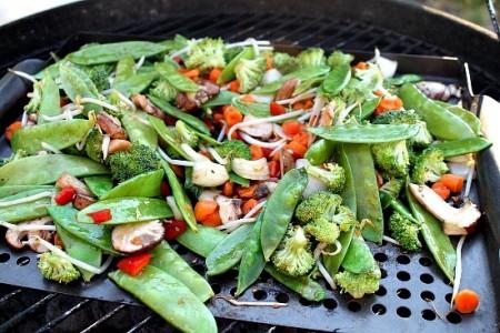 Grilling Vegetables for a Stir-Fry