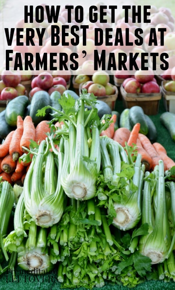 How to get the very best deals at Farmers' Markets -- Tips for Getting the Best Deals at Farmers' Markets - Save money and enjoy produce at the peak of freshness with these money saving tips at Farmers' Markets.