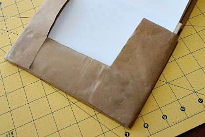 How to make a book cover with brown paper and tape