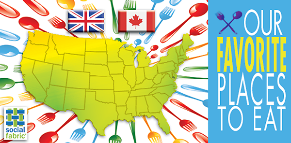Favorite Restaurants throught the US, Canada, and UK