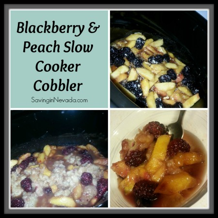 Peach and Blackberry Slow Cooker Cobbler Recipe