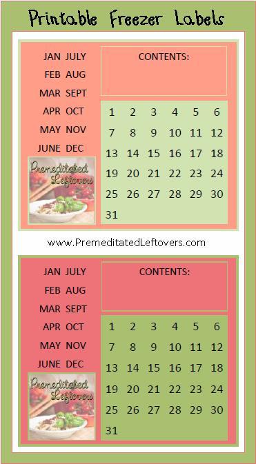 image regarding Printable Freezer Labels known as Cost-free Printable Freezer Labels and a Freezer Listing