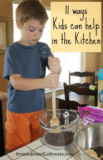 Teaching children to help in the kitchen