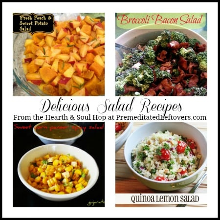 Delicious Salad Recipes from the Hearth and Soul Hop