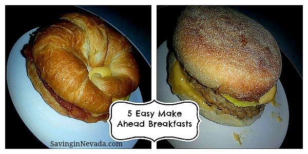 Easy Make Ahead Breakfasts recipes