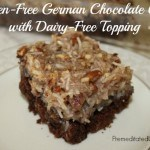 Delicious recipe for Gluten-Free German Chocolate Cake with Dairy-Free Topping.