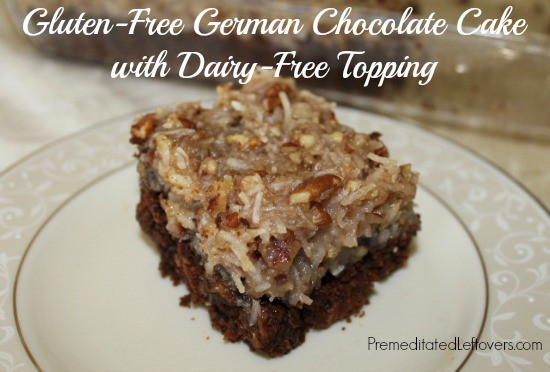 Gluten-Free German Chocolate Cake Recipe with Dairy Free Topping