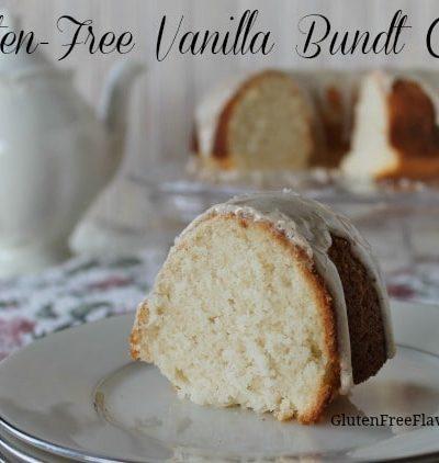 Gluten-Free Vanilla Bundt Cake with Vanilla Bean Glaze