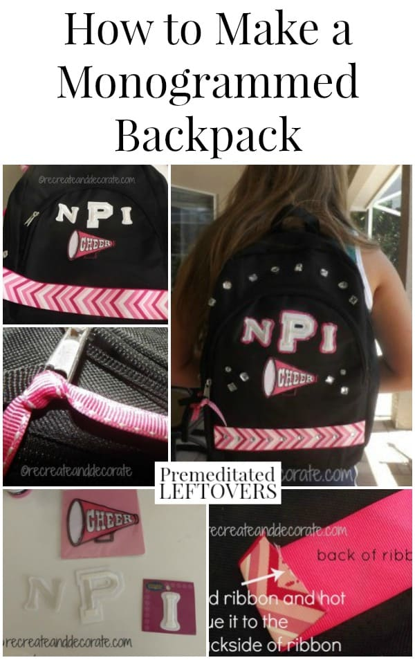 How to make a monogrammed backpack