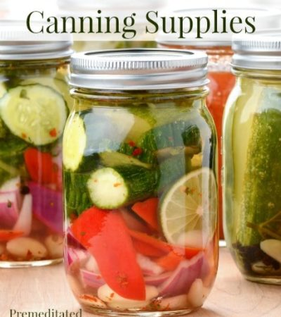 How to Save on Canning Supplies - tips for saving on all the items you need for canning