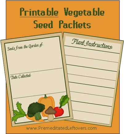 Impertinent image inside printable seed packet