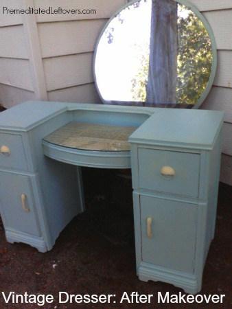 Vintage Dresser after makeover