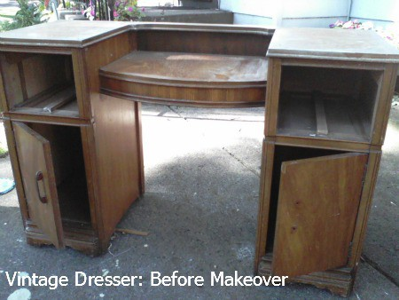Vintage Dresser before makeover
