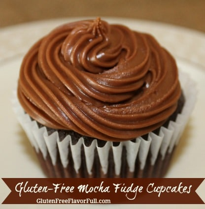 Gluten-Free Mocha Fudge Cupcake or Cake Recipe