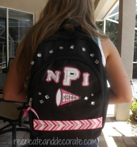 how to decorate a backpack - create a custom backpack for your child with monogram letters