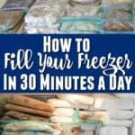 how to fill your freezer in 30 minutes a day - includes recipes and tips