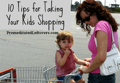 taking kids to the store