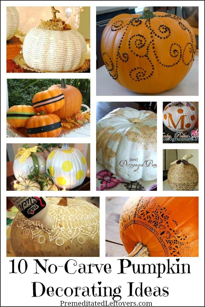 10 No Carve Pumpkin Decorating Ideas