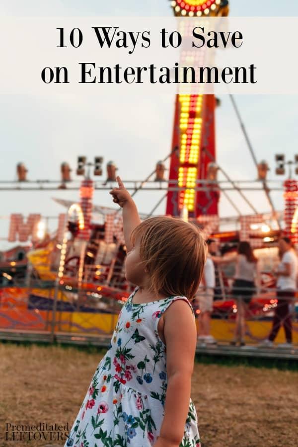 Little girl at amusement park