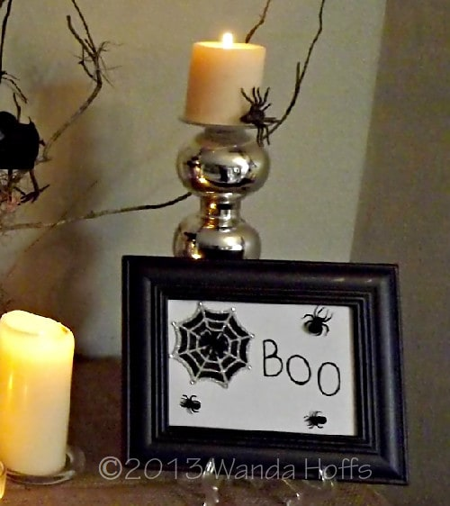 Boo Sign for Halloween - directions for making this sign