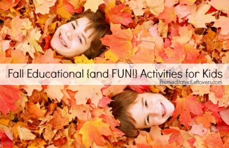 Fall Educational Activities for Kids