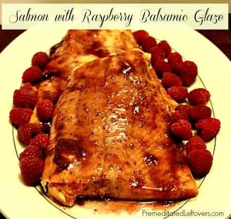 is a fast and easy recipe for Salmon with Balsamic Glaze. The glaze ...