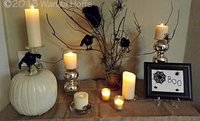 Easy,  Elegant, and Inexpensive Halloween centerpiece for your table