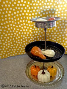 Easy Upcycle use old platters and dishes to make a Three Tier Server