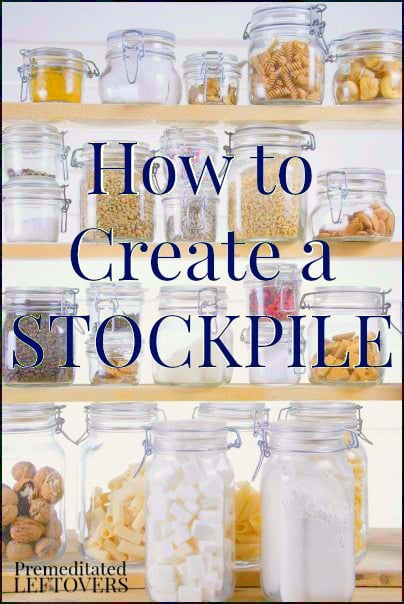 Learn how to create a stockpile and save money on your groceries. Includes usable tips for keeping your food costs low and keeping your stockpile organized.