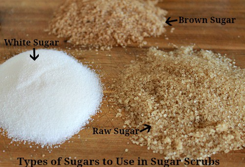 What types of sugar can you use in sugar scrubs? Pick a different type of sugar based on how you are going to use the sugar scrub.