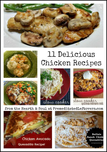 11 Chicken Recipes from the Hearth and Soul Hop