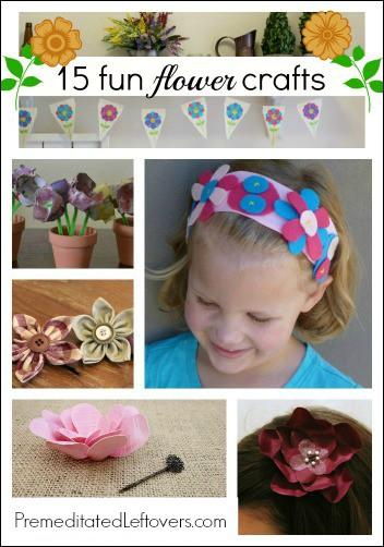 15 Fun Flower Crafts