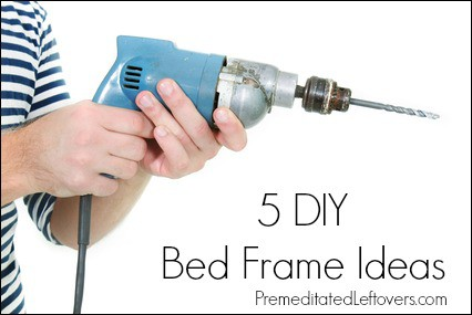 5 diy bed frame ideas premeditated leftovers for Make your own bed frame ideas