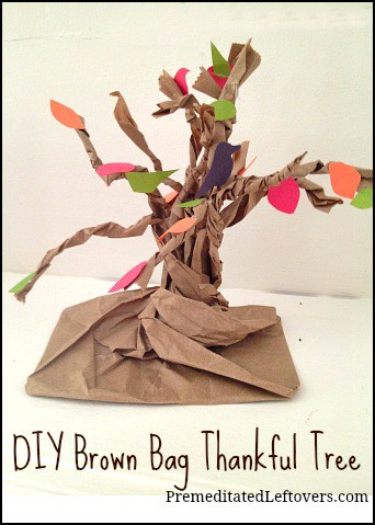 DIY Brown Bag Thankful Tree: An easy Thanksgiving Craft to do with your kids