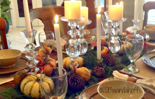 Frugal and elegant centerpiece Thanksgiving