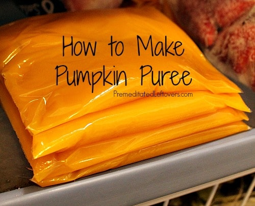 How to make pumpkin puree and how to freeze pumpkin puree