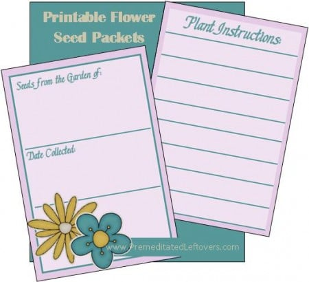 Printable Flower Seed Packets(1)