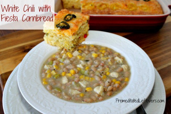 White Chili and Fiesta Cornbread with Lindsay Peppers #FreshFinds from Save Mart