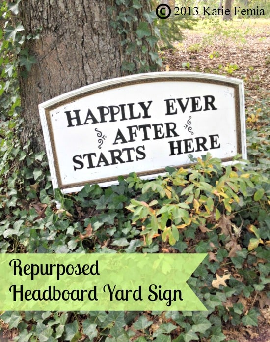 Curbside Crafts: Repurposed Headboard Yard Sign